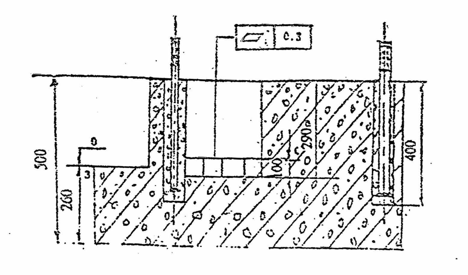 C41-20kg分体式空气锤地基图